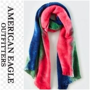 American Eagle tie dye over size scarf